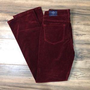 NYDJ sz 10 red velvet bootcut jeans